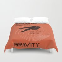 gravity Duvet Covers featuring GRAVITY by Resistance