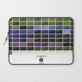 PANTONE glossary - Iceland - Seljalandsfoss Laptop Sleeve