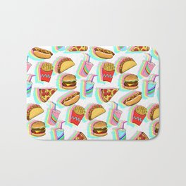 Rainbow Fast Food Bath Mat
