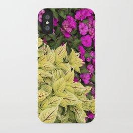 Flower Bed in Butchart's Garden iPhone Case