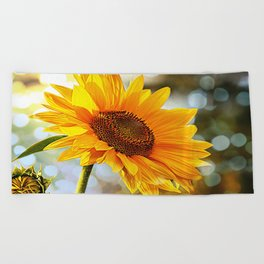 Radiant Sunflower Beach Towel