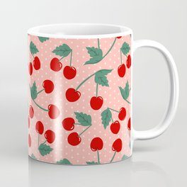 Cherry Kitsch on Pink Coffee Mug