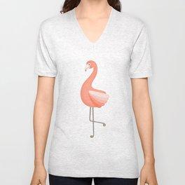 flan de flamingo Unisex V-Neck