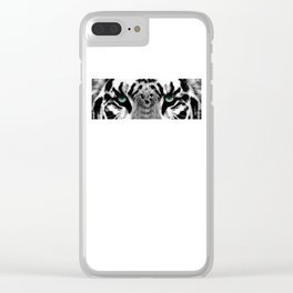Dressed To Kill - White Tiger Art By Sharon Cummings Clear iPhone Case