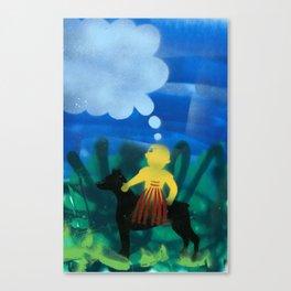Dog Boy Canvas Print