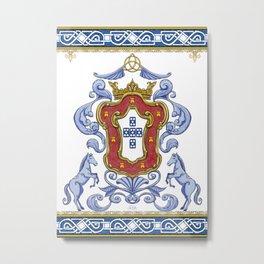 Portuguese Crest Metal Print