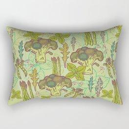 Green vegetables pattern. Rectangular Pillow