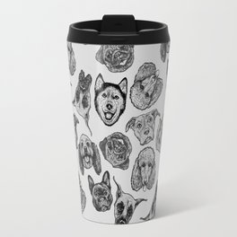 Black and White Pups Travel Mug