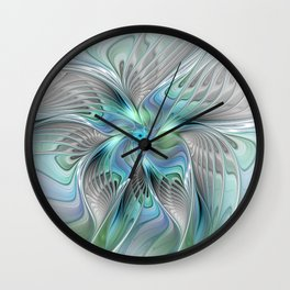 Abstract Butterfly, Fantasy Fractal Art Wall Clock