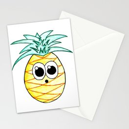 The Suprised Pineapple Stationery Cards