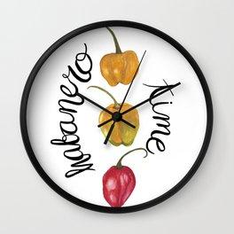 Habanero time Wall Clock