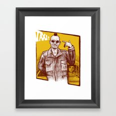 Taxi! Framed Art Print
