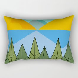 Lake and mountains Rectangular Pillow