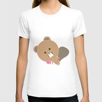beaver T-shirts featuring Kawaii Beaver by SweetToothStudio