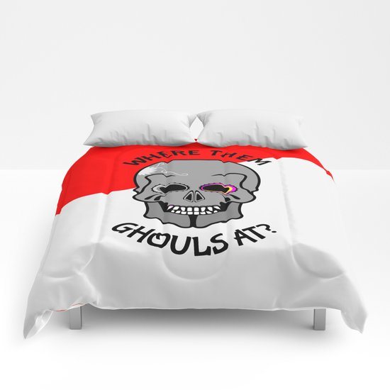 Skull | Where them ghouls at? Comforters
