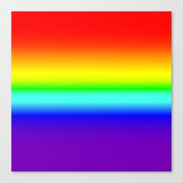Vivid Rainbow Gradient Canvas Print