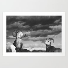 rams | fig. 01 | odd ram out Art Print