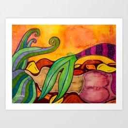Sleepy Mermaid Art Print