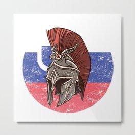 Slowenia Slowenian Spartan  TShirt Warrior Shirt Flag Gift Idea Metal Print