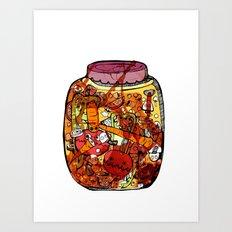 Preserved vegetables Art Print