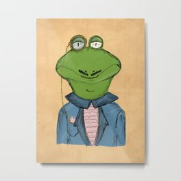 Sophisticated Frog Print Metal Print