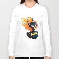 batgirl Long Sleeve T-shirts featuring Batgirl by Станислава Коробкова