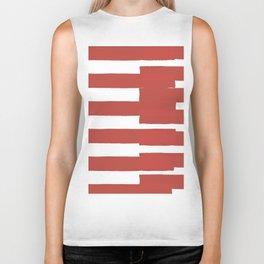 Big Stripes In Red Biker Tank