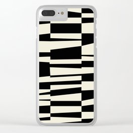 BW Oddities II - Black and White Mid Century Modern Geometric Abstract Clear iPhone Case