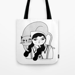Black & White / Hanging Out With Dot Tote Bag