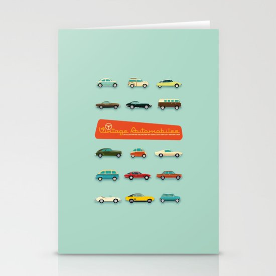 Vintage Automobiles Stationery Cards