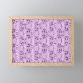Cycling Flamingo pattern Framed Mini Art Print