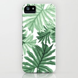 Philo Hope - Tropical Jungle Leaves Pattern #1 #tropical #decor #art #society6 iPhone Case