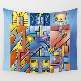 Keepers of the Cosmic Order Wall Tapestry