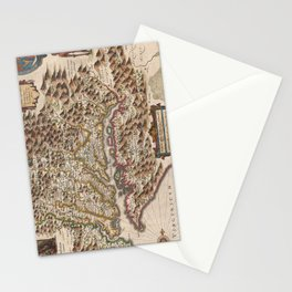 Vintage Map of Virginia (1630) Stationery Cards