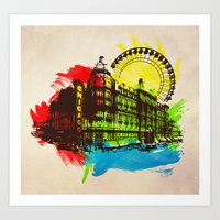 chicago Art Prints featuring Chicago by Badamg