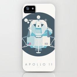Apollo 11 Lunar Lander Module - Text Charcoal iPhone Case