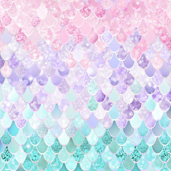 Mermaid Pastel Iridescent Comforters