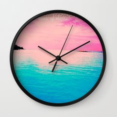 Paradise is open to all kinds of hearts... Wall Clock
