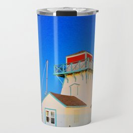 Summerside Harbour lighthouse Travel Mug