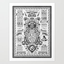 Legend of Zelda inspired Deku Nuts Vintage Advertisement Art Print