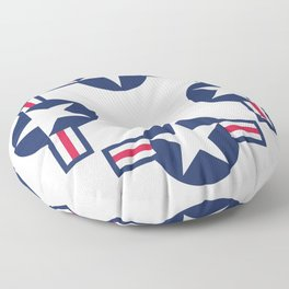US Air force insignia HD image Floor Pillow