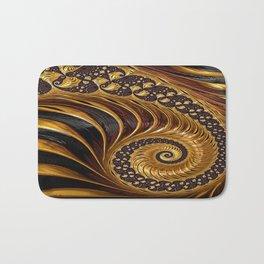 Elegant Black Gold Shell Bath Mat