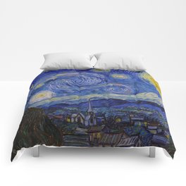 The Starry Night by Vincent van Gogh (1889) Comforters