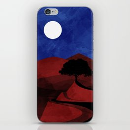 red road iPhone Skin