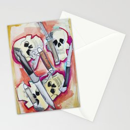 Skulls and Switchblades Stationery Cards