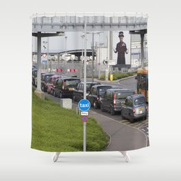 Taxi Taxi Taxi Shower Curtain