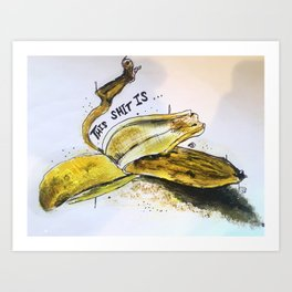 Bruised Banana Art Print