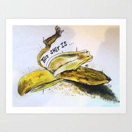Bruised Banana Art Print