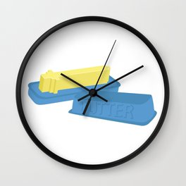 Butter Sword Wall Clock
