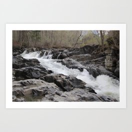 Willoughby Falls in the Spring Art Print